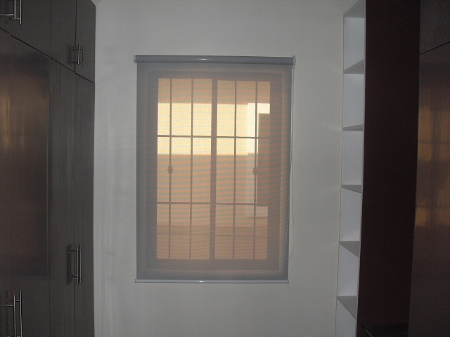 Installed Roller Blinds at Caloocan City ; Gray - sunscreen material