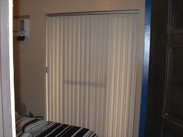 PVC Vertical Blinds Installed in a Patio Door