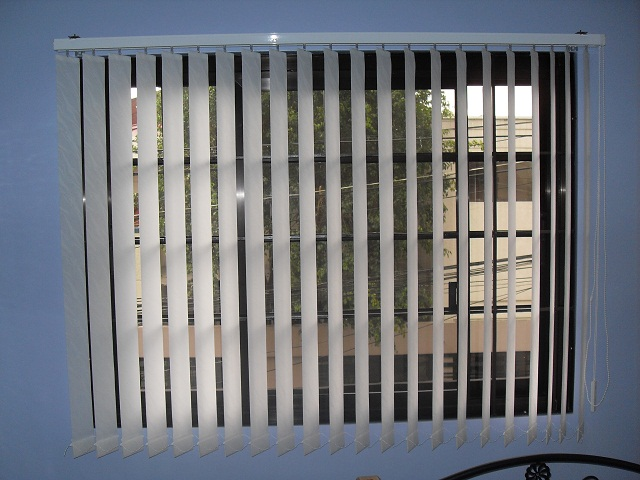 Fabric vertical blinds at Pasig City, Manila, Philippines