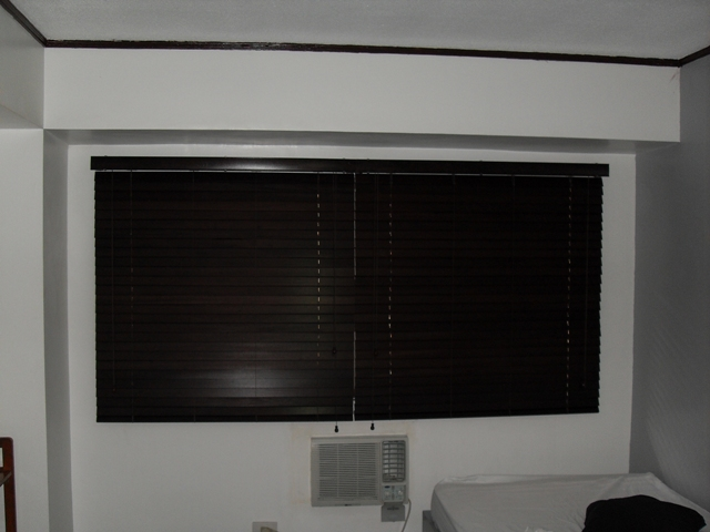 Wooden Blinds installed at Pasig City Philippines