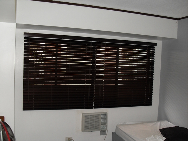 Wooden Blinds Installed at Pasig City, Philippines