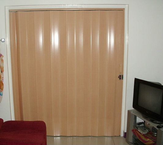 Beech Color of PVC Accordion Door