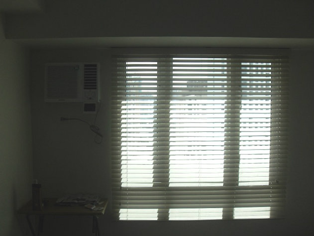 Fauxwood Blinds - Almond Installed at Malate, Metro Manila, Philippines