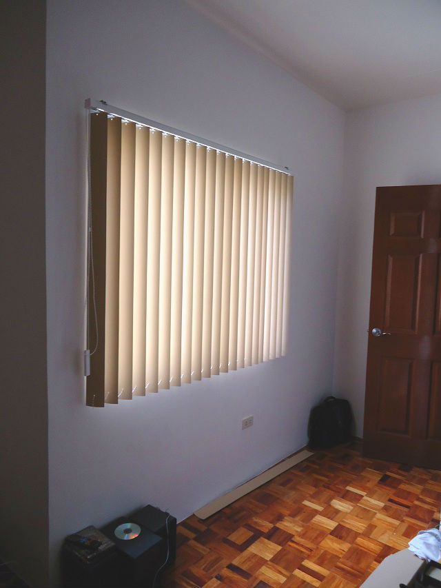 PVC Vertical Blinds Installed in Pasig City, Philippines