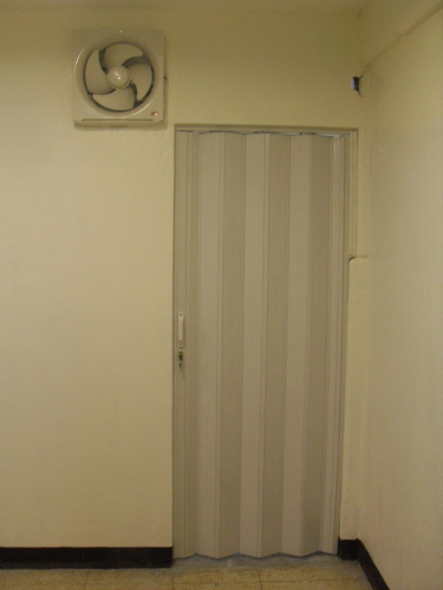 White Ash Color of PVC Accordion Door