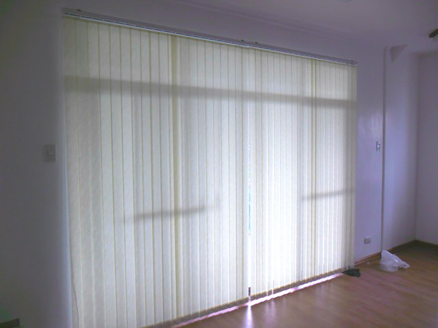 Fabric Vertical Blinds for Sliding Glass Door at Pasay City, Philippines