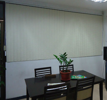 PVC Vertical Blinds: Brush Cream