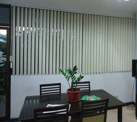 PVC Vertical Blinds Installed in Muntinlupa City, Philippines