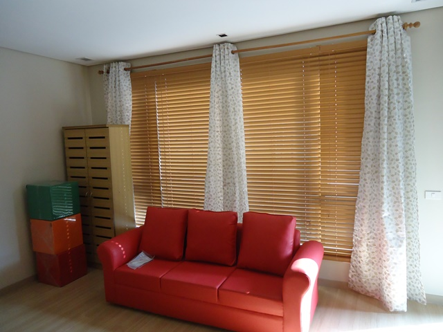 Fauxwood Blinds Installed at East Service Road Muntinlupa City, Philippines
