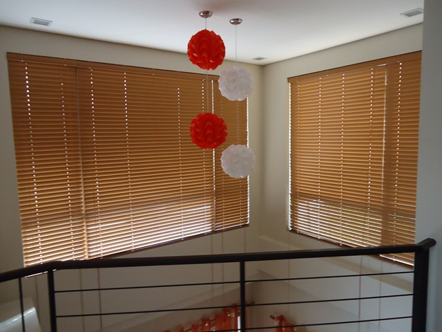 "Fauxwood Blinds ""Maple"" Installed at East Service Road Muntinlupa City, PHilippines"