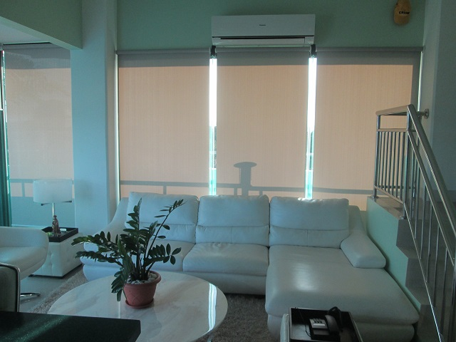 Soothing Home Interior with Roller Blinds