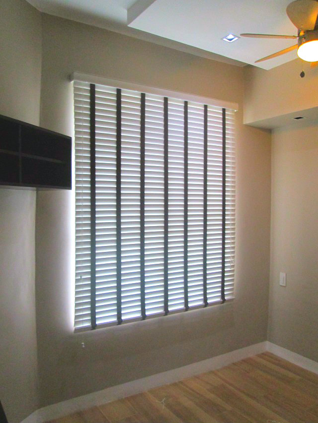Wooden Blinds with Ladder Tape Installed at Taguig City, Philippines