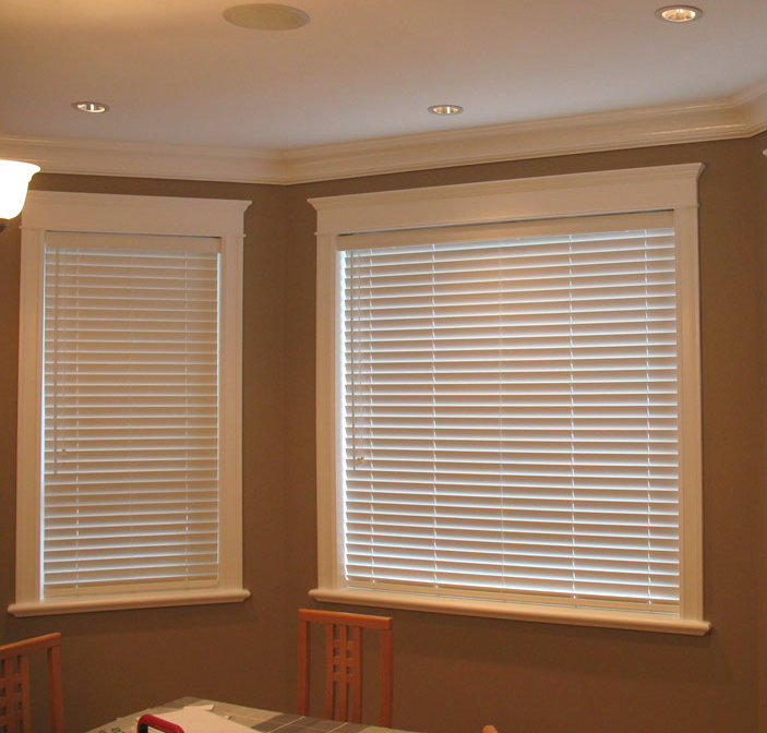 Beautiful White Wooden Blinds