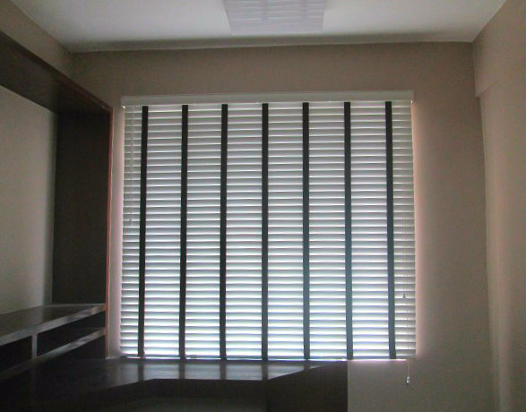 "Installation of ""White"" Wooden Blinds at Taguig City, Philippines"