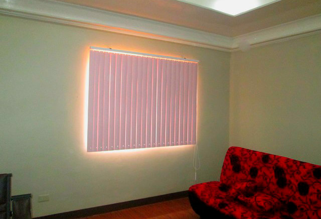 PVC Vertical Blinds Floral Pink Installed at Pasig City, Philippines
