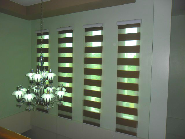 "Combi Blinds "" Pleated - Coffee """