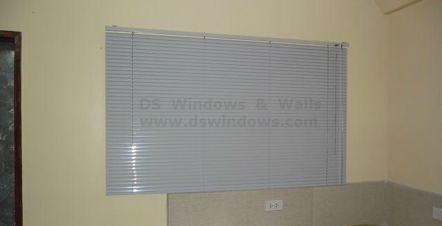 Aluminum Venetian Blinds as Window Dressing