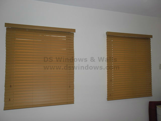 Installed Faux Wood Blinds in Valenzuela City