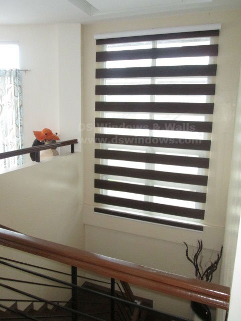Choco Combi Blinds for Wood Home Motif