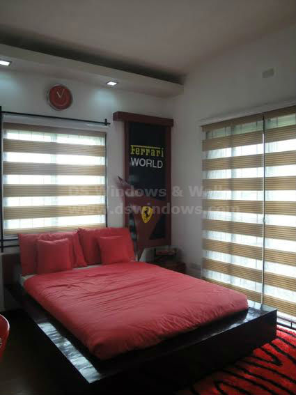 Modern and Elegant Bedroom with Combi Blinds
