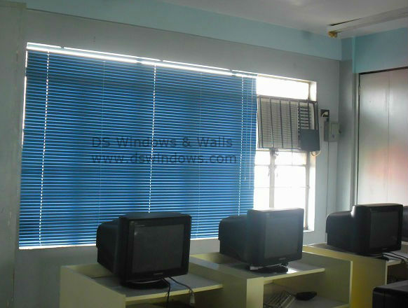 Aluminum Mini Blinds Installed at Computer Room