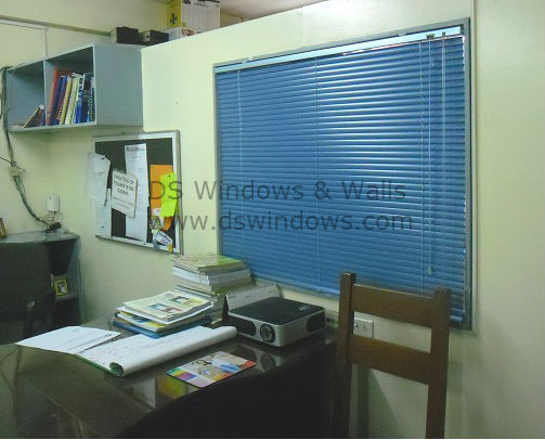 Aluminum Blinds Installed at the Faculty Room