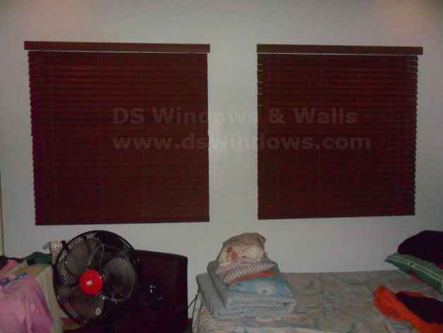 Faux Wood Blinds Installed in Pasig City, Philippines