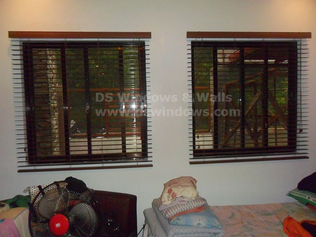 Faux Wood Blinds: Cherrywood Color