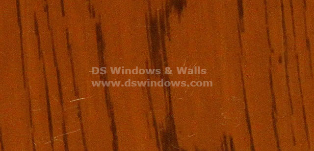 Teak Color of PVC Folding Door to attain Wood Look