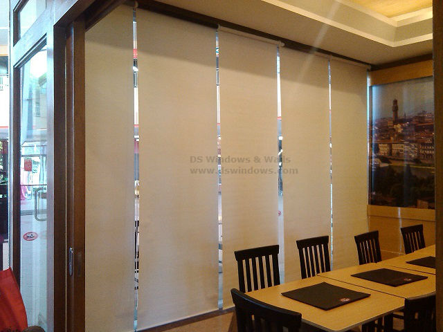 Roller Blinds Installed in a Coffee Shop and Restaurant