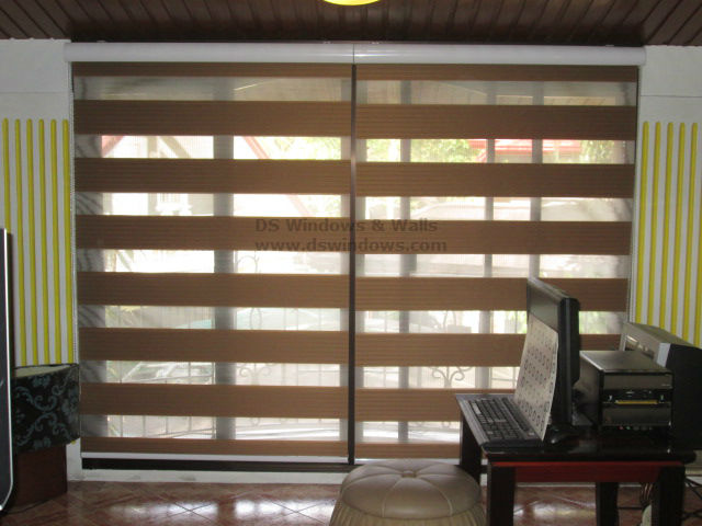 Pleated Combi Blinds - P706 Coffee
