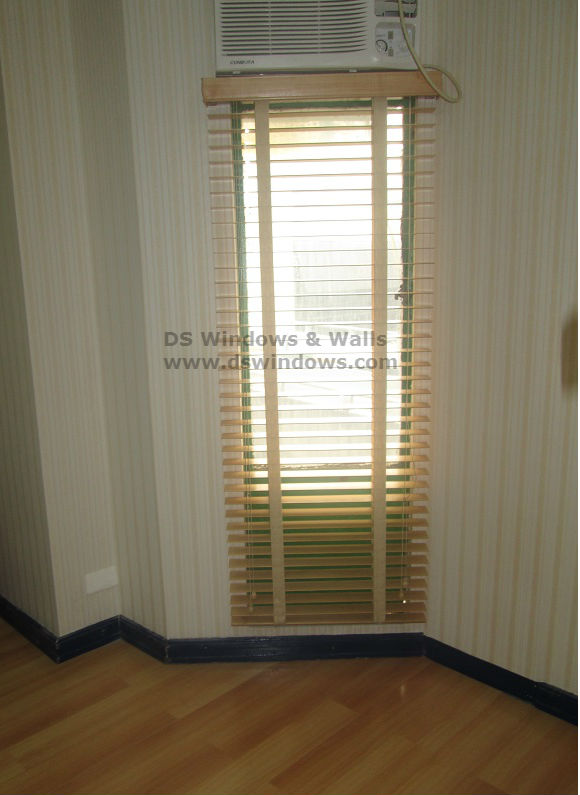 Wood Blinds with Fabric Cloth Tape Installed in Parañaque City