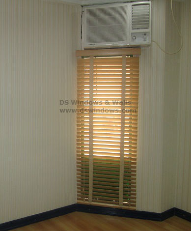Wood Blinds with Fabric Tape