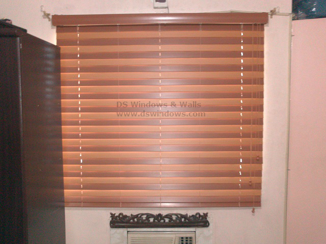 Fauxwood Blinds Installed in Sta. Rosa, Laguna