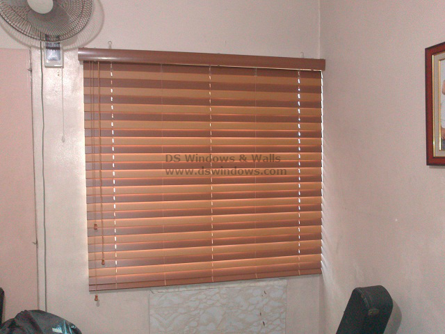Fauxwood Blinds Installed in Sta. Rosa Laguna.