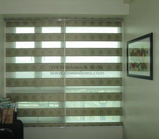 Floral Design of Combi Blinds for Feminine Look