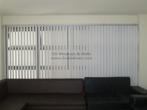 PVC Vertical Blinds for Wide Windows