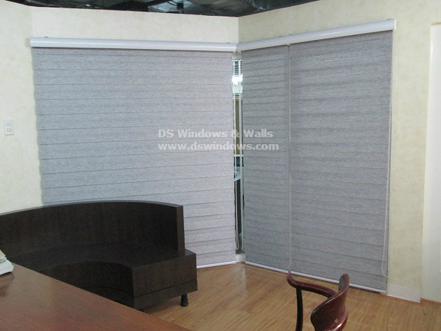 Combi Blinds Wood Series - W209 Gray