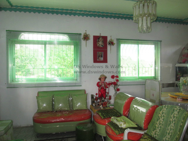 Green Fresh Color of Venetian Blinds