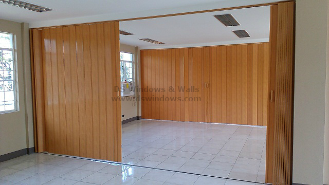 PVC Folding Door as a Partition for Wide Spaces: Greenhills, San ...