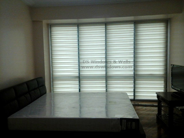 Combi Blinds installed in Fully Furnished Condo - Rockwell Makati City