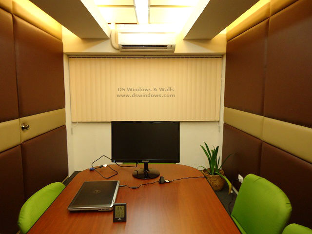Vertical Blinds For Narrow Conference Room