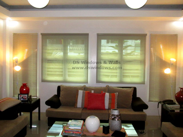 roller venetian blinds living room makati philippines Roller Shades and Venetian Blinds For A Captivating Living Room   Makati City, Philippines