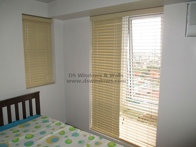 Fauxwood Blinds For Bedroom with Awning Window - Las Piñas City, Philippines