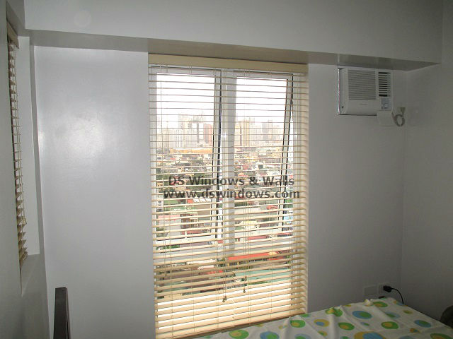 Inside Mount Faux Wood Blinds For Limited Space Bedroom - Las Piñas City