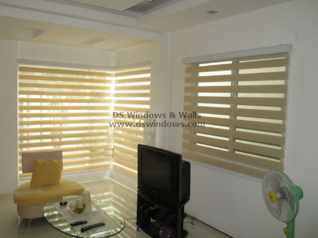 Minimalist Living Room Design with Combination Blinds - Valle Verde, Dasmariñas Cavite