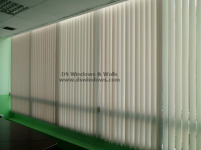 pvc vertical blinds high rise commercial space bgc taguig philippines High Rise Commercial Space With PVC Vertical Blinds   Bonifacio Global City, Taguig Philippines