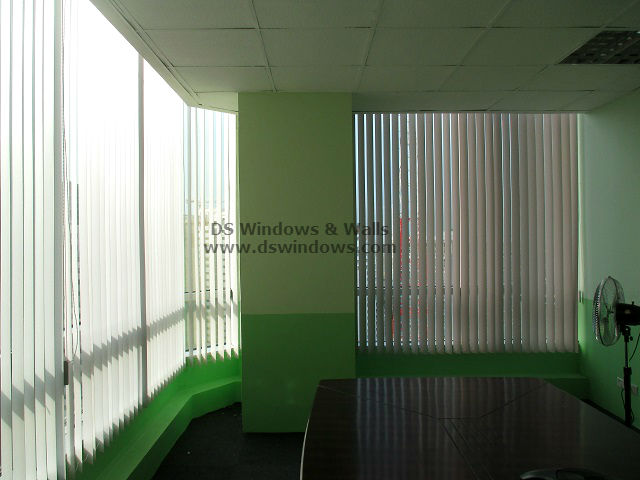 PVC Vertical Blinds for High Rise Commercial Space - Taguig City, Philippines