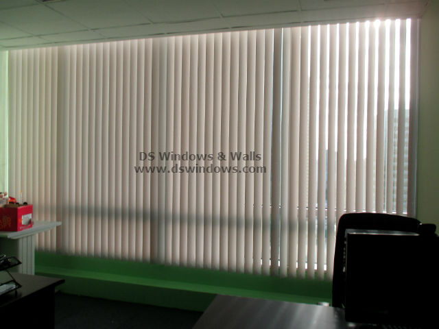 PVC Vertical Blinds installed in Bonifacio Global City, Taguig Philippines