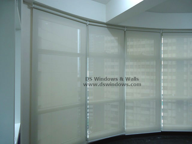 Sunscreen Roller Blinds For Condo Unit Curve Window - Mandaluyong City